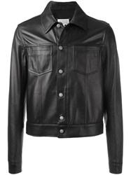 Maison Martin Margiela Classic Leather Jacket Brown