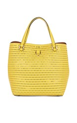Karen Millen Mini Embossed Bucket Bag Yellow