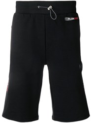 Plein Sport Side Logo Track Shorts Black