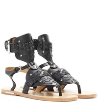 Isabel Marant Etoile Jalys Leather Sandals Black