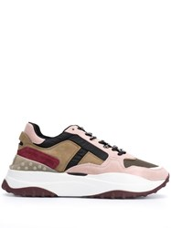 Tod's Logo Lace Low Top Sneakers Pink