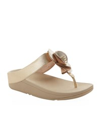 Fitflop Florrie Toe Post Sandals Female Gold