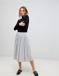 B.Young Pleated Skirt Light Grey