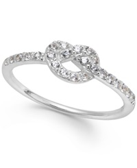 B. Brilliant Cubic Zirconia Knot Ring In Sterling Silver 1 4 Ct. T.W.