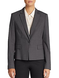 Hugo Boss Junali Melange Stretch Wool Blazer Charcoal