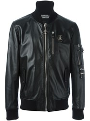 Philipp Plein 'Hey' Bomber Jacket Black