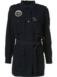 Figue Embellished Military Coat Black