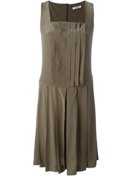 Cacharel Pleated Dress Green