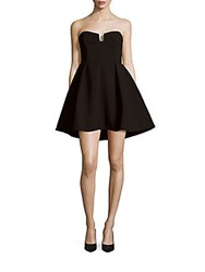 Keepsake Divide Cocktail Dress Black