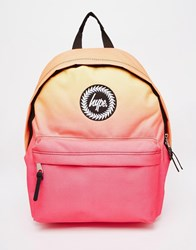 Hype Backpack In Pink And Orange Ombre Pink
