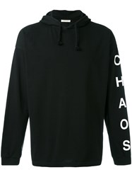 Alyx Printed Arm Drawstring Hoodie Men Cotton M Black