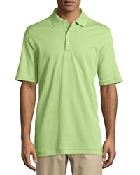 Bobby Jones 120S 2 Ply Solid Supreme Polo Shirt Meadow