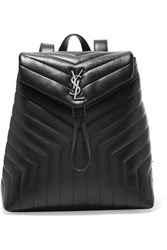 Saint Laurent Loulou Medium Quilted Leather Backpack Black