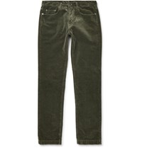Massimo Alba Cotton Velvet Trousers Green