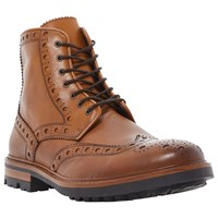 Bertie Cyrus Leather Brogue Boots Tan