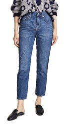 Madewell Perfect Vintage Tux Stripe Jeans Wellbeck Wash