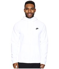 Nike Club Fleece Full Zip Hoodie White White Black Men's Fleece