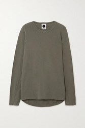 Bassike Organic Cotton Jersey Top Army Green
