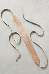Anthropologie Woven Audra Wrap Belt Taupe