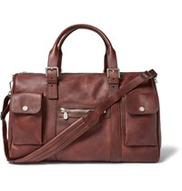 Brunello Cucinelli Burnished Leather Holdall Brown