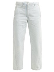 Lemaire High Rise Wide Leg Jeans Light Blue