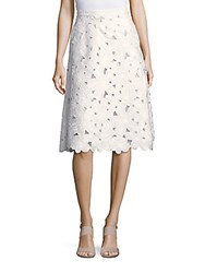 Valentino Solid Cutout Skirt White