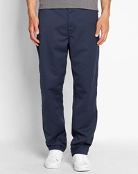 Carhartt Navy Wash Simple Denison Straight Fit Trousers Blue