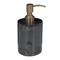 Amara Marbled Resin Soap Dispenser Black