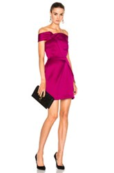Roland Mouret Herland Double Faced Satin Dress In Purple