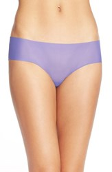 Women's Halogen 'No Show' Mesh Hipster Briefs Purple Field