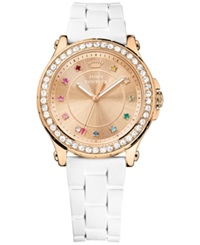 Juicy Couture Women's Jetsetter White Silicone Strap Watch 38Mm 1901240