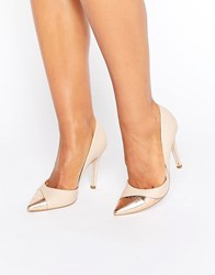 Miss Kg Caitlyn Contrast Court Shoes Nude Beige