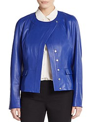 Escada Leather Jacket Blue