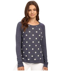 Alternative Apparel Printed Locker Room Pullover Stars Women's Long Sleeve Pullover Multi