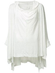 Lost And Found Ria Dunn Soft Poncho White
