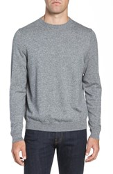 Nordstrom Big And Tall Shop Cotton And Cashmere Crewneck Sweater Grey Shade Marl