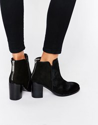 Religion Weeping Pony Ankle Boots Black Ponyskin Multi