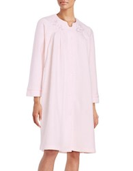 Miss Elaine Embroidered Plush Robe Pink