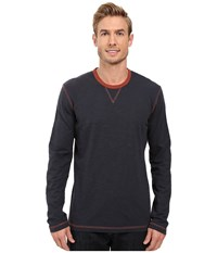 Ecoths Ezra Long Sleeve Shirt Ombre Blue Men's Clothing Navy