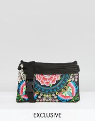 Reclaimed Vintage Butterfly Embroidered Bumbag Multi Butterfly