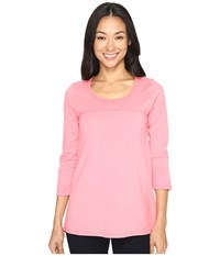 Mod O Doc Classic Jersey Back Vent 3 4 Sleeve Tee Guava Women's T Shirt Pink