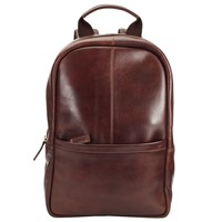 John Lewis Gladstone Leather Backpack Tan