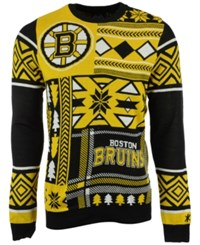 Forever Collectibles Men's Boston Bruins Patches Christmas Sweater