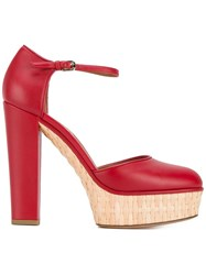 Valentino Garavani Platform Pumps Red