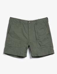 Engineered Garments Olive Ripstop Fatigue Short
