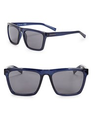 Calvin Klein 57Mm Square Sunglasses Navy