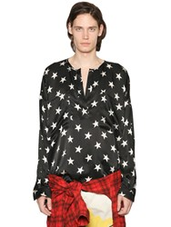 Faith Connexion Star Printed Silk Satin Tunic Shirt