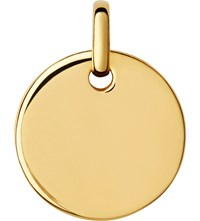 Links Of London Narrative Yellow Gold Vermeil Small Disc Pendant