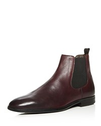 A.Testoni Beatles Leather Chelsea Boots Burgundy