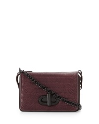 L.A.M.B. Esta Double Flap Top Crossbody Bag Wine